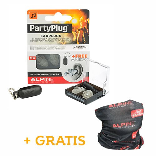 Alpine Party Plug Transparant